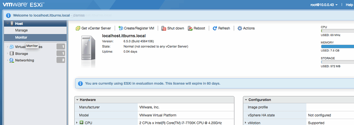 Set up the VMware vCenter Server Appliance with Mac or Linux