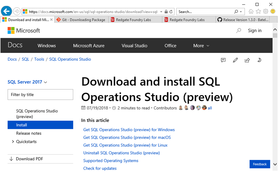 Get started with SQL Operations Studio in 7 steps