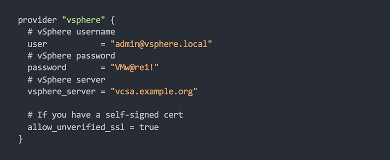 Use Terraform, VMware vSphere to enable declarative