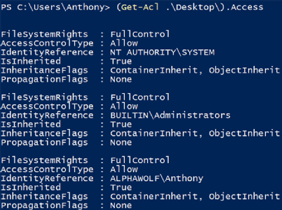How do I manage ACL folder permissions with a PowerShell script?