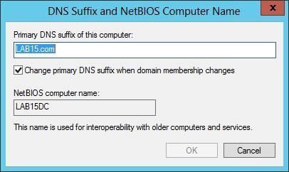DNS Suffix and NetBIOS Computer Name