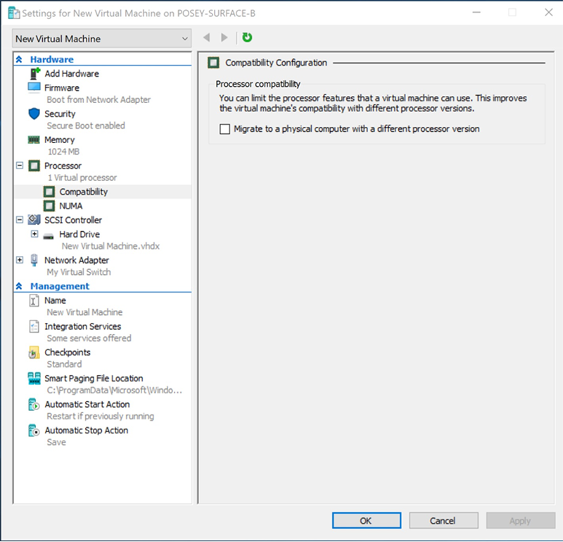 Get to know the Hyper-V processor compatibility mode feature