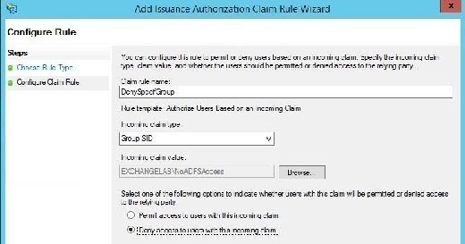 Deny access to users with the incoming claim