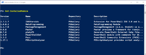 Working with PowerShell module downloads from the gallery