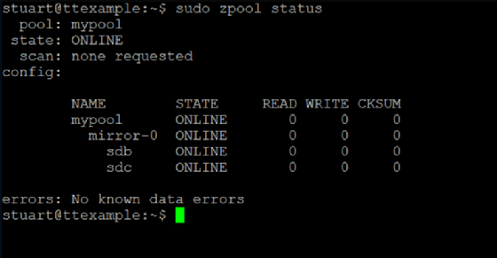 Command-line interface with pool status