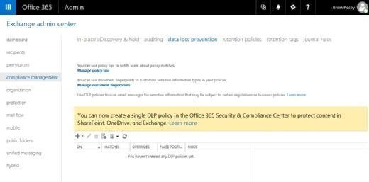 Office 365 DLP policy