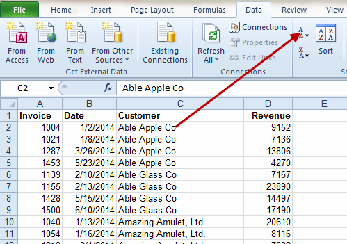 Excel tip: Charting the top five customers from an invoice register