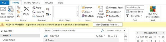 Outlook add-in problem
