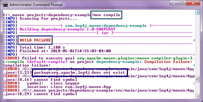 Fix broken builds with this log4j Maven dependency example