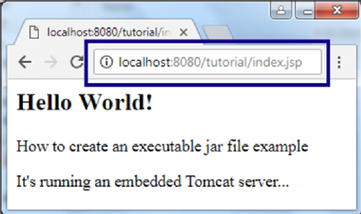 How to deploy an embedded Tomcat server in an executable JAR