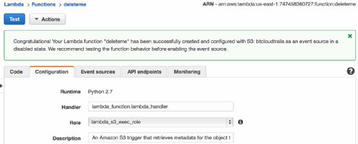 AWS allows developers to test Lambda code.