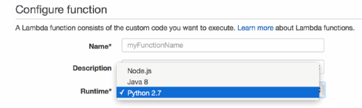 Choose between Node.js, Jave 8 and Python 2.7 programming languages.