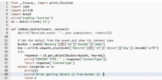Set up and configure an AWS Lambda function
