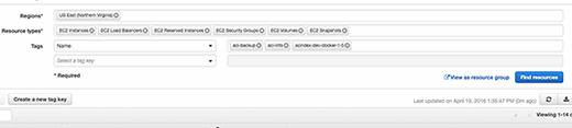Resource groups help identify servers.