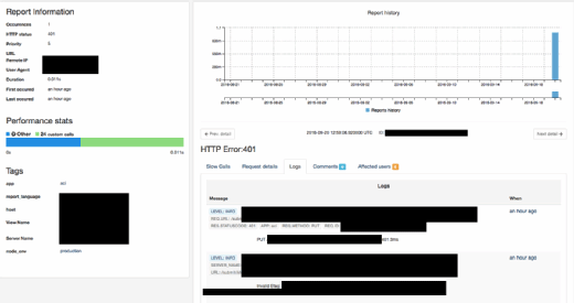 AppEnlight enables dev teams to assess error reports.