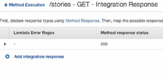 Add an integration response.