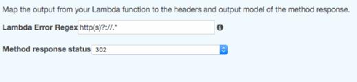 Fill in Integration Response details.