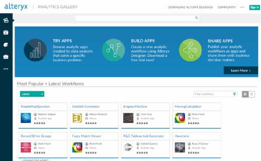 sBA ed choice Gallery mobile Alteryx big data analytics platform stakes data prep claim