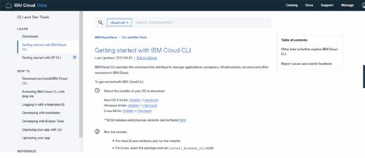 Starting IBM Cloud CLI