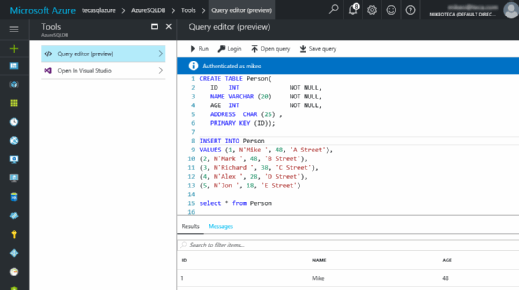 Using T-SQL queries
