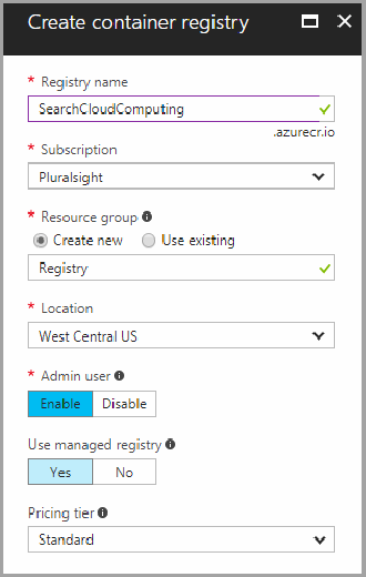 Create the Azure Container Registry resource.