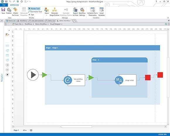How to build visual workflows in SharePoint