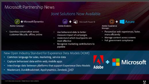 The Adobe and Microsoft partnership
