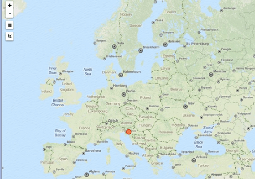 IP address origin map