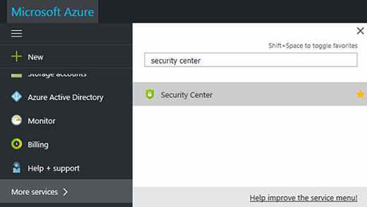 Get started with Azure Security Center