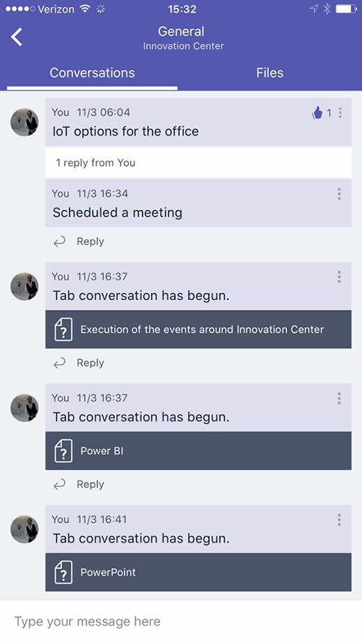 Mobile Microsoft Teams