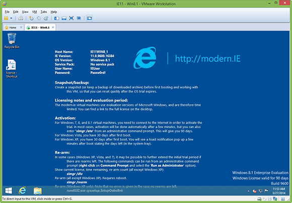 Modern.ie runs on desktops up to Windows 8.1
