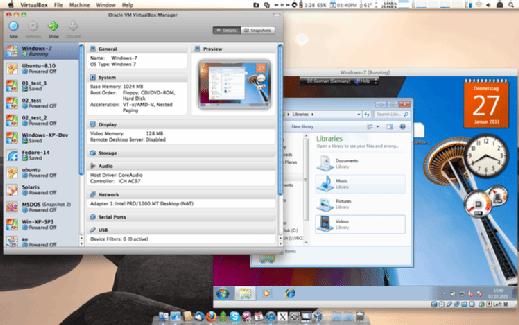 VirtualBox's options for Windows 8.1