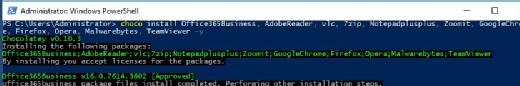 Installing basic software