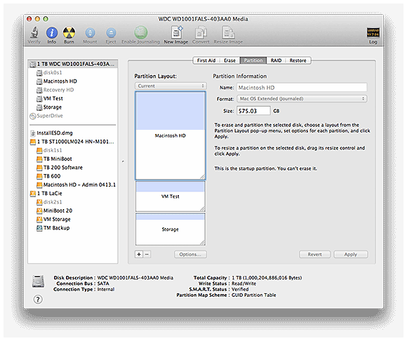 Mac OS's Disk Utility partition can repair the OS