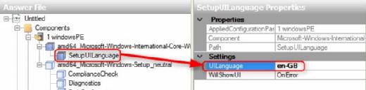 OS language setting