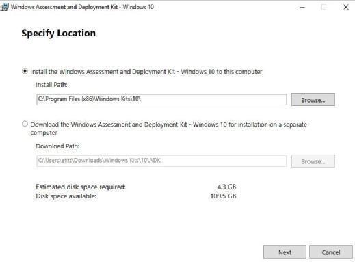 Windows ADK installer