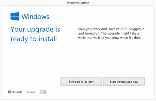 Win10 ready to install
