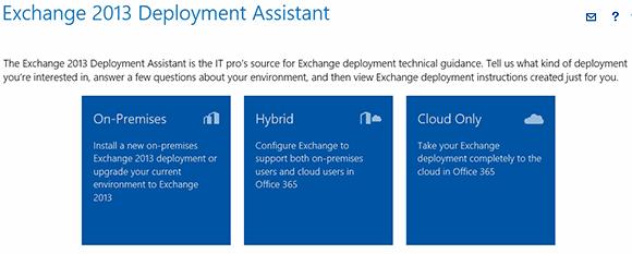 Exchange deployment choices