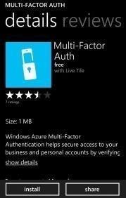 Multifactor auth details