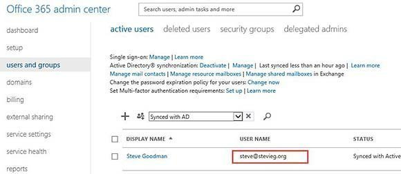 Updated Office 365 login ID