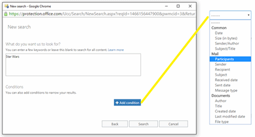 Office 365 eDiscovery search limits