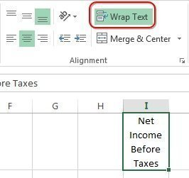 Excel Tip Use Alt Enter To Break Lines Of Text In A Single Cell
