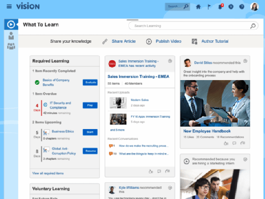 Image of the Oracle Learning Cloud.