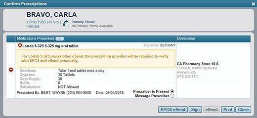 Prescription confirmation