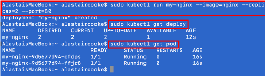 Follow this Minikube tutorial to brew up a Kubernetes home lab