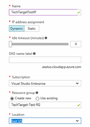 Azure VM networking