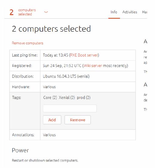 Canonical Landscape erlaubt es Ubuntu-Administratoren, die Server über Tags in Gruppen einzuteilen.