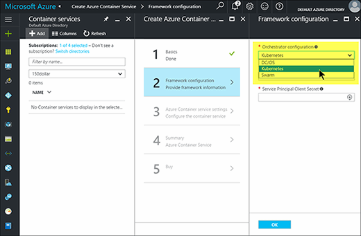 Microsoft Azure Container Service interface