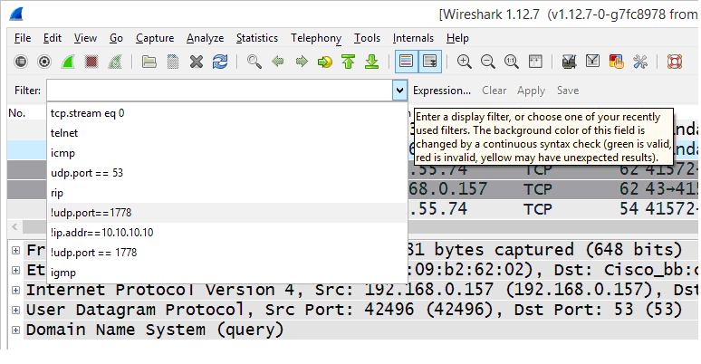How to manage Wireshark display filters