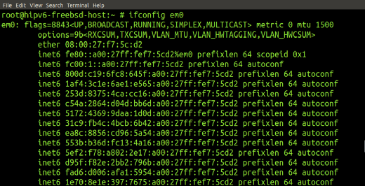 The ifconfig command can be used to probe autoconfigured addresses